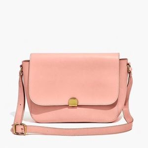 Madewell blush leather abroad bag NWT